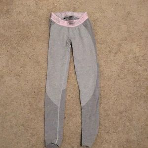 Grey/pink flex leggings gymshark